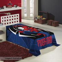 Manta Fleece Solteiro Spider Man®- Azul Escuro & Vermelhlepper
