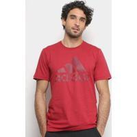 Camiseta Adidas Mh Bos Masculina - Masculino-Vermelho