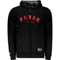 Jaqueta Fatal Logo Estampada Preta E Vermelha