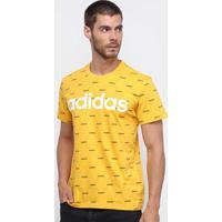 Camiseta Adidas Core Fav T Masculina - Masculino-Amarelo