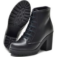 Bota Navit Shoes Tratorada Woman Fosco Preto - Preto - Feminino - Dafiti