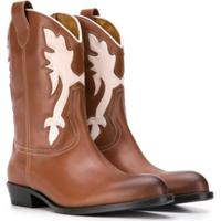Gallucci Kids Teen Cowboy Boots - Marrom