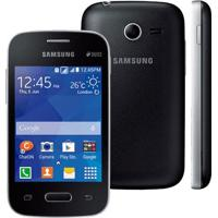 "Smartphone Samsung Galaxy Pocket 2 Sm-G110M - Preto - 4Gb - 3G - 2 Mp - Tela 3.3"" - Android 4.4"