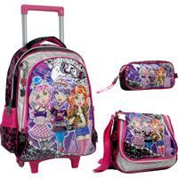 Kit Escolar Punktitas Mochilete Lancheira E Estojo Pk6173K Pink