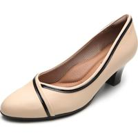 Scarpin Piccadilly Bicolor Bege