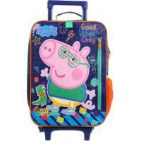 Mochila De Rodinhas Escolar George Peppa Pig G Plus