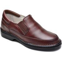 Sapato Anti Stress Terapia Confort P/ Diabéticos Promoção - Masculino-Marrom