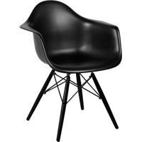 Poltrona Eames Dar- Preta- 82X62X44Cm- Or Designor Design