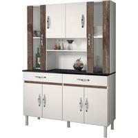 Cozinha Compacta Sampaio 8 Pt 2 Gv Branco E Chocolate