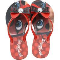 Chinelo Infantil Miraculous Ladybug Petit Feminino - Feminino-Vermelho