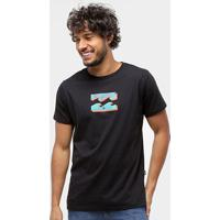 Camiseta Billabong Bunker Ii Masculina - Masculino-Preto