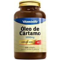 Óleo De Cártamo - Ácido Linoléico 1000Mg ( 120 Softgels ) - Vitaminlife - Unissex