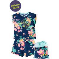 Pijama Infantil Feminino 100% Algodão Com Bolsa Puc [] []