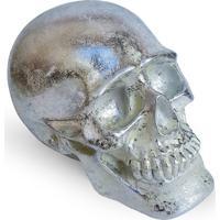 Cofre Crânio Skull - Prata Geek10 - Multicolorido