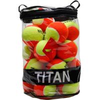 Bola De Beach Tennis Titan Laranja Pack Com 24 Unidades - Unissex
