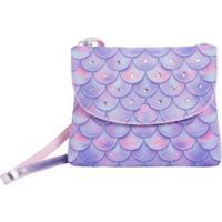 Bolsa Infantil Princesa Pink Bolsa Carteira Sereia Multicolorido