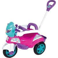 Triciclo Infantil Baby City Menina Com Empurrador - Unissex-Rosa
