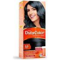 Coloração Creme Dutycolor Para Cabelos Cor 2.0 Preto 1 Unidade