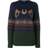Farfetch  Polo Ralph Lauren Suéter De Tricô - Azul 23a44dc688f