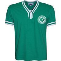 Camiseta Liga Retrô Chapecoense 1977 - Masculino-Verde