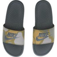 Chinelo Nike Benassi Jdi Print - Slide - Masculino - Verde Escuro