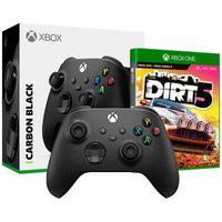 Controle Microsoft Xbox, Sem Fio, Preto - Qat-00007 + Game Dirt 5 Xbox