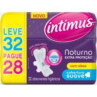 Absorvente Intimus Noturno Extra Proteção Suave Com Abas 32 Unidades