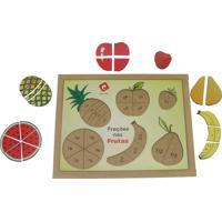 Frações Nas Frutas Base Mdf 22 Peças - Carlu - Kanui
