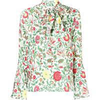 La Doublej Blusa De Seda Floral - Verde