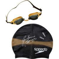 d30aaf4b00 Netshoes  Kit Óculos + Touca Speedo + Protetor De Ouvido Swim Kit 3.0 -  Unissex