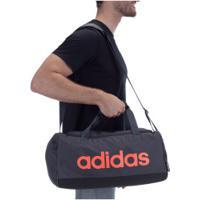 Mala Adidas Linear Duffle S - Cinza Escuro