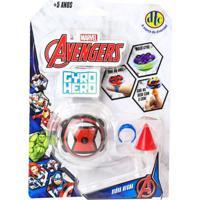 Pião De Batalha - Giro Hero - Disney - Marvel - Avengers - Viúva Negra - Dtc