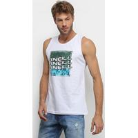 Camiseta Regata O'Neill Text Box Masculina - Masculino-Branco