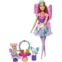 Boneca Barbie - Barbie Dreamtopia - Dia De Pets - Festa Do Chá - Mattel