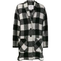 Woolrich Checked Single Breasted Coat - Preto