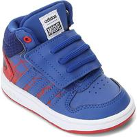 Tênis Infantil Adidas Hoops Mid 2.0 - Unissex-Vermelho+Azul