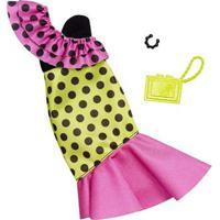 Acessórios De Boneca - Barbie Fashionistas - Vestido Colorido - Mattel