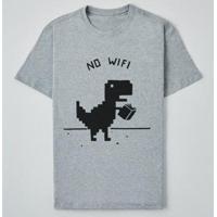 Camiseta Reserva Lnk Sem Wifi Masculina - Masculino-Cinza