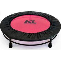 Mini Cama Elástica Jump 150 Kg + Capa Protetora + Dvd - Unissex-Rosa