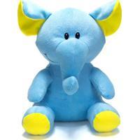Bicho De Pelúcia Unik Toys 25 Cm Elefante Azul - Kanui