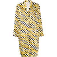 Balenciaga Vestido Com Estampa De Corrente - Preto