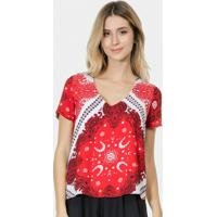 Blusa Arabescos- Vermelha & Branca- Lez A Lezlez A Lez