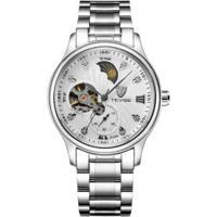 Relógio Tevise 8122A Masculino Automático Pulseira Aço - Branco