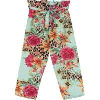Calã§A Clochard Floral- Verde Claro & Rosa- Kids-Trick Nick
