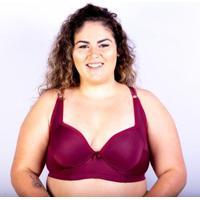 Sutiã Bojo Plus Size Gatria Reforçado Feminino - Feminino-Vinho