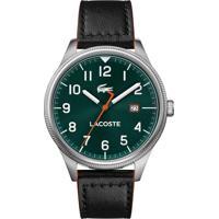Relógio Lacoste Masculino Couro Preto - 2011019