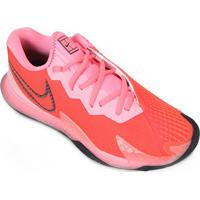 Tênis Nike Air Zoom Vapor Cage 4 Hc Feminino - Feminino-Vermelho+Rosa