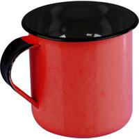 Caneca Esmaltada Metallouça Aço Vermelha 70Ml