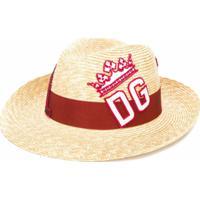 Dolce & Gabbana Chapéu Com Logo Bordado - Neutro