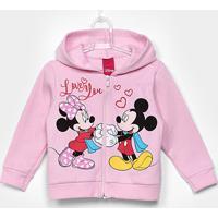 Jaqueta Mickey E Minnie Infantil Cativa Em Moletom Feminina - Feminino
